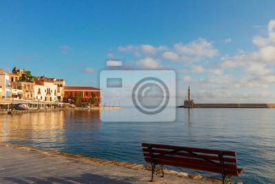 Fototapete venezianischen Hafen von Chania, Kreta, Griechenland