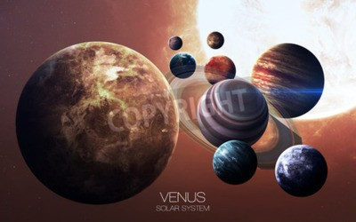 Fototapete Venus - Hochauflösende Bilder präsentieren Planeten des Sonnensystems.