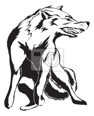 Verärgerter Wolf