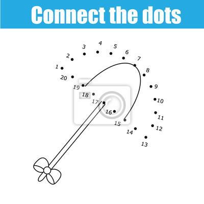 Verbinde das dots by numbers kinder lernspiel. druckbare ...