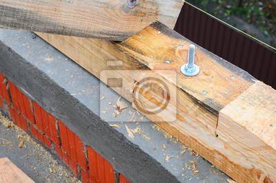 Extreem Verbinden sie die beiden balken auf dem dach. dachkonstruktion KI02