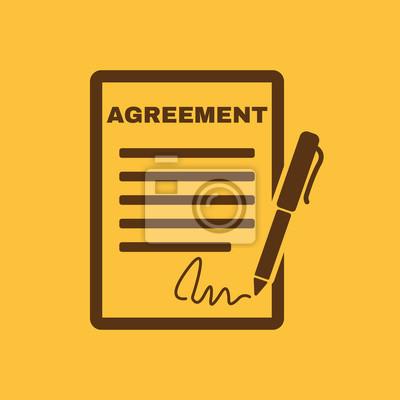 Vereinbarung Symbol Vertrag Und Unterschrift Pakt Vereinbarung