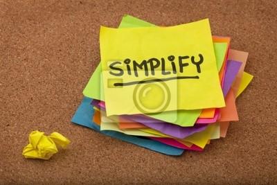 vereinfachen Erinnerung