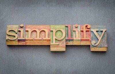 Fototapete Vereinfachen Sie Wort im Holztyp