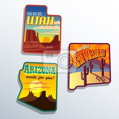 Vereinigte Staaten Arizona New Mexico Utah-Designs
