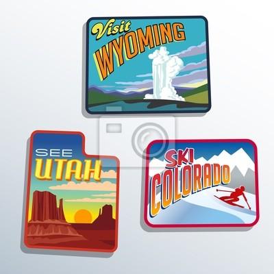 Vereinigte Staaten Utah Colorado Wyoming Patch entwirft