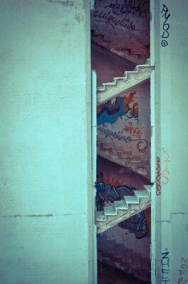 Fototapete Verfallte Treppe