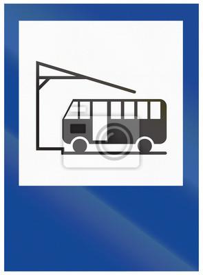 Verkehrsschild in Argentinien - Bus Terminal