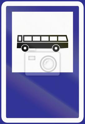 Verkehrsschild in Argentinien - Bushaltestelle