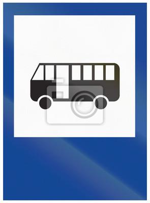 Verkehrsschild in Argentinien - Bushaltestelle verwendet