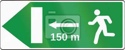Verkehrsschild in der Slowakei - Notausgang