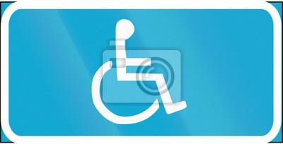 Verkehrsschild in Estland - Behinderte