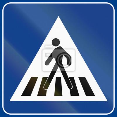 Verkehrsschild in Italien verwendet - Fußgängerüberweg
