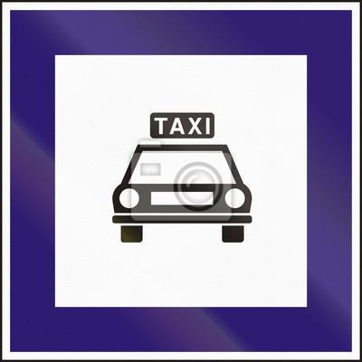 Verkehrsschild in Ungarn - Taxistand verwendet