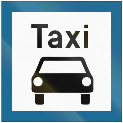 Verkehrsschild in Weißrussland - Taxistand