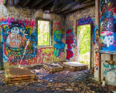 Fototapete Verlassene Graffit