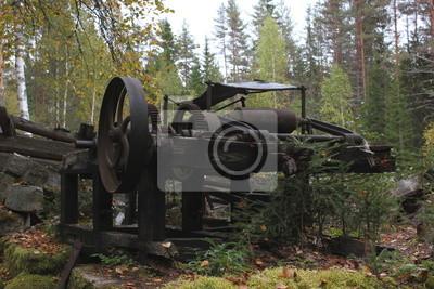 Verlassene Platz bei Fämtleden, Värmland, Schweden