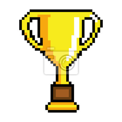 Verpixelte Trophäen-Auszeichnung