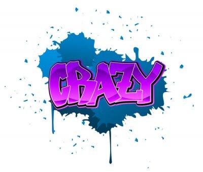 Verrückte Graffiti-Hintergrund