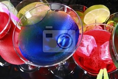 Verschiedene Cocktails fiesta style