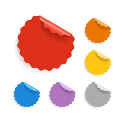 Verschiedene Farbe Etiketten Sammlung. Flache Bauformen