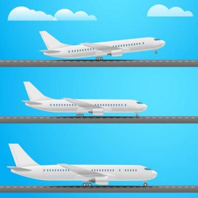 Verschiedene Flugzeuge Sammlung. Flache Design-Illustration