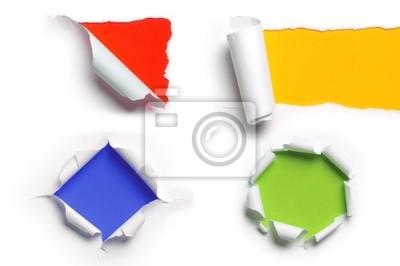 Verschiedene Ripped Paper Patterns