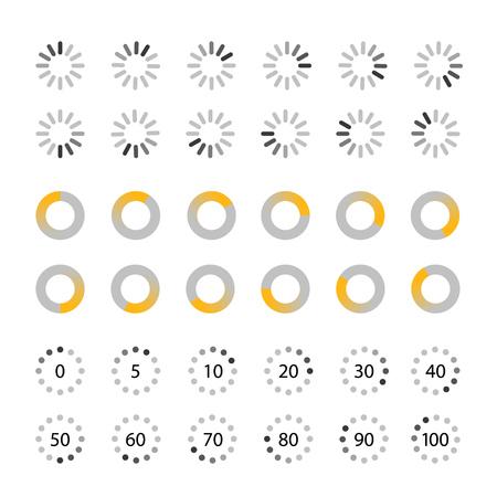 Verschiedene Slyles Web-Loader Vektor-Sammlung. Flache Bauformen