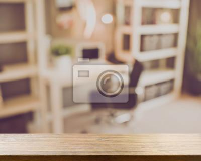 Verschwommenes Buro Mit Computer Anwendung Retro Instagram Style