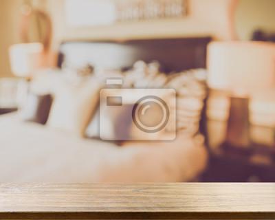 Verschwommenes Schlafzimmer Mit Retro Instagram Style Filter