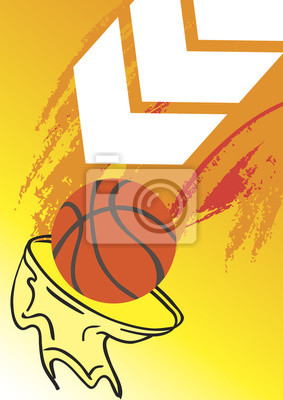 Vertical basketball banner with white arrow