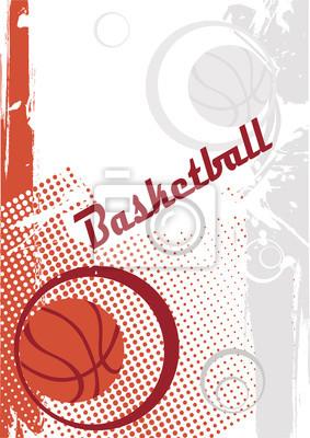 Vertikales Basketballplakat. Abstraktes Basketballmotiv.