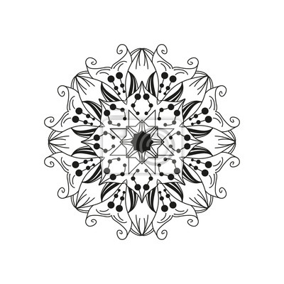 Verwickelt floral mandala. zusammenfassung runden web-design-element ...