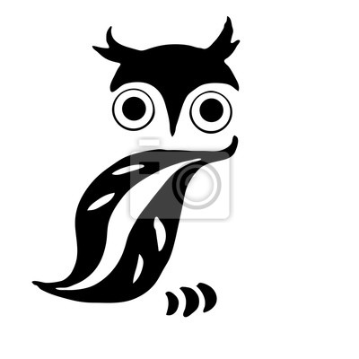 Very high quality original owl for coloring or tattoo fototapete ...