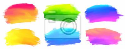 Fototapete Vibrierendes Spektrum färbt Vektoracrylfarbenflecke