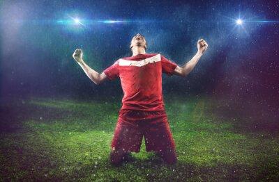 Fototapete Victorious Fußballspieler