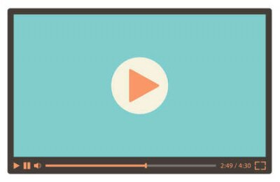 Fototapete Video player for web in retro style. Vector illustration