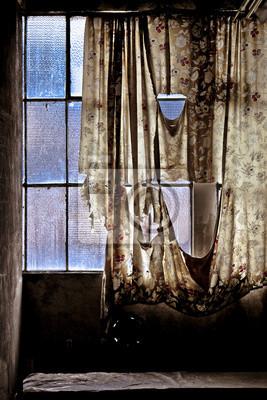 Vieille fenêtre Usine désaffectée