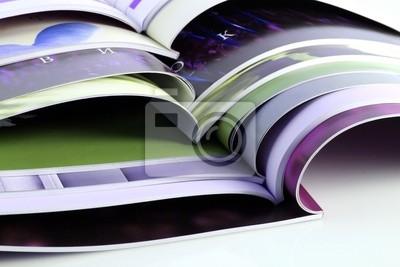 Viele Farbe Zeitschriften