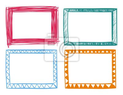 Vier bilder in verschiedenen farben fototapete • fototapeten ...