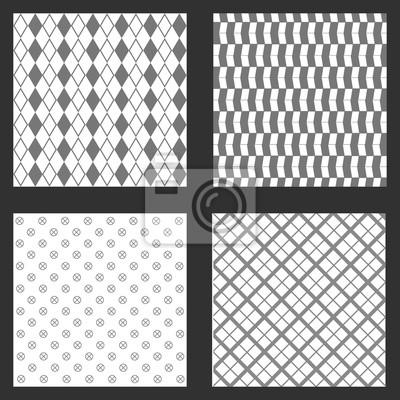 Vier Rahmen Tapeten Hintergrunde Muster Form Abstrakte Geometrische