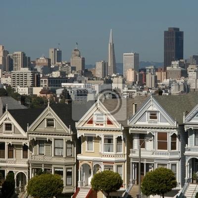 viktorianischen Häuser in San Francisco