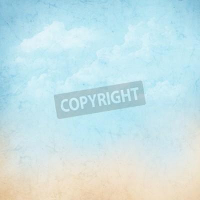 Fototapete Vintage abstrakte Natur Himmel mit Wolken Hintergrund