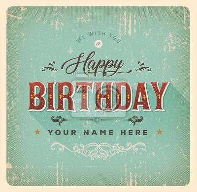 Geburtstag Karte.Fototapete Vintage Alles Gute Zum Geburtstag Karte