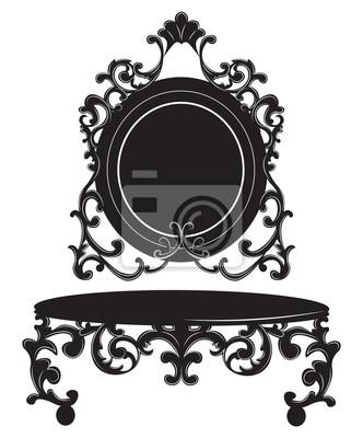 Vintage barock imperial dressing tisch und spiegel set. französisch ...