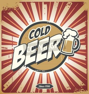 Fototapete Vintage beer poster