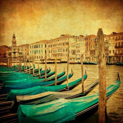 Fototapete Vintage Bild von Grand Canal, Venedig
