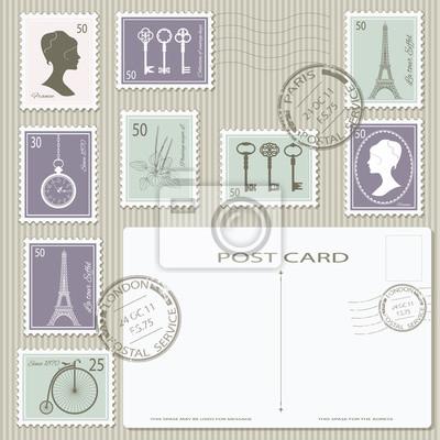 Postkartenrückseiten
