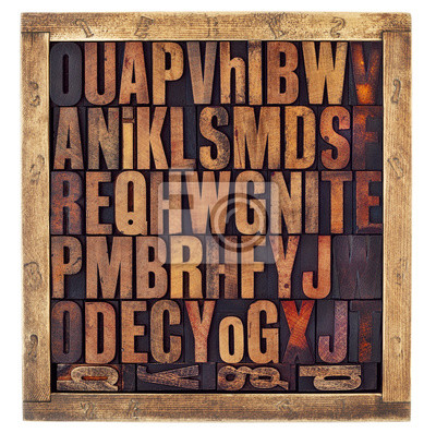 Vintage Buchdruck Alphabet Buchstaben