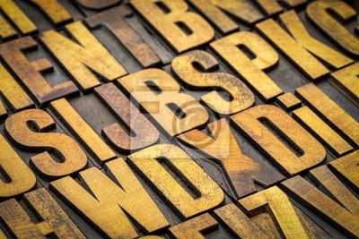 Vintage Buchdruck Holzdruckblöcke